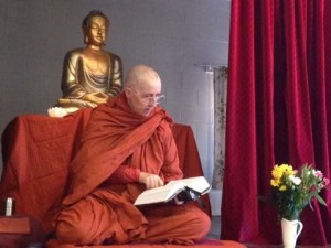 Ayya Santacari reading from the Anguttara Nikaya