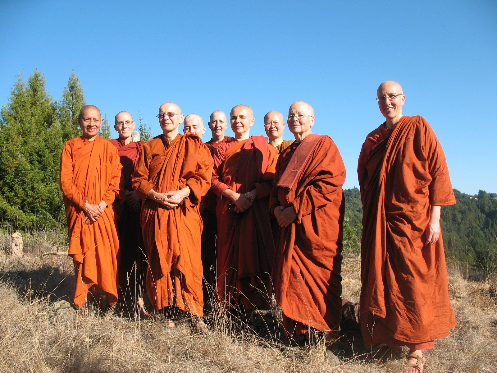 You can see me at the back in the centre with this group of Bhikkhunis at Aranya Bodhi for the Bhikkhuni Camp in 2012.